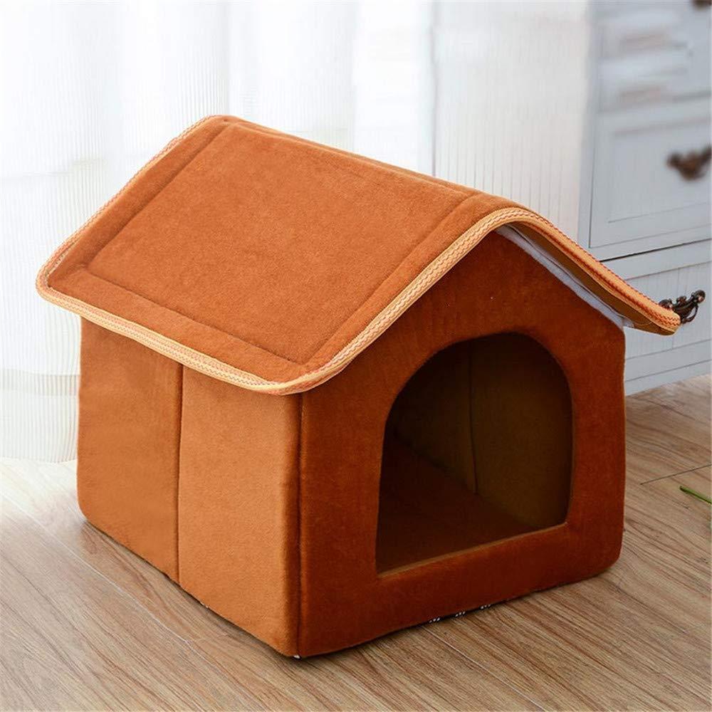 Wuwenw Cama Plegable Para Mascotas De La Casa Para Mascotas Cama Suave Para Perros De Leopardo De Invierno Cachorro De Perro Cachorro Para Perros Casa De Nido Para Perros Perros Pequeños Y Medianos, L