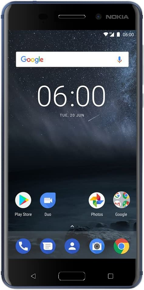 """Nokia 6 - 32 GB - Dual Sim Unlocked Smartphone (AT&T/T-Mobile/Metropcs/Cricket/Mint) - Update To Android 9.0 Pie - 5.5"""" FHD Screen - Blue - U.S. Warranty"""