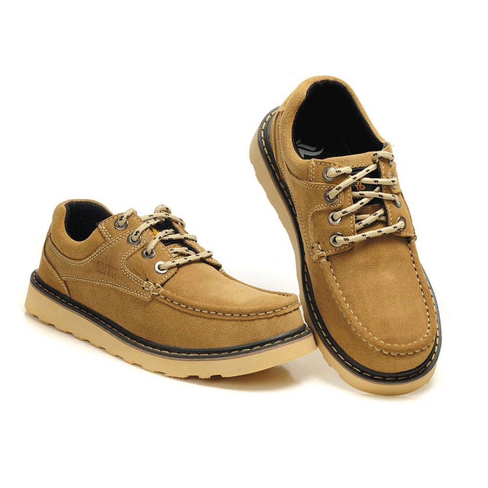 iLory Sneakers Herren Bootsschuhe Turnschuhe Casual Wildleder Leder Schnürhalbschuhe y0UMN