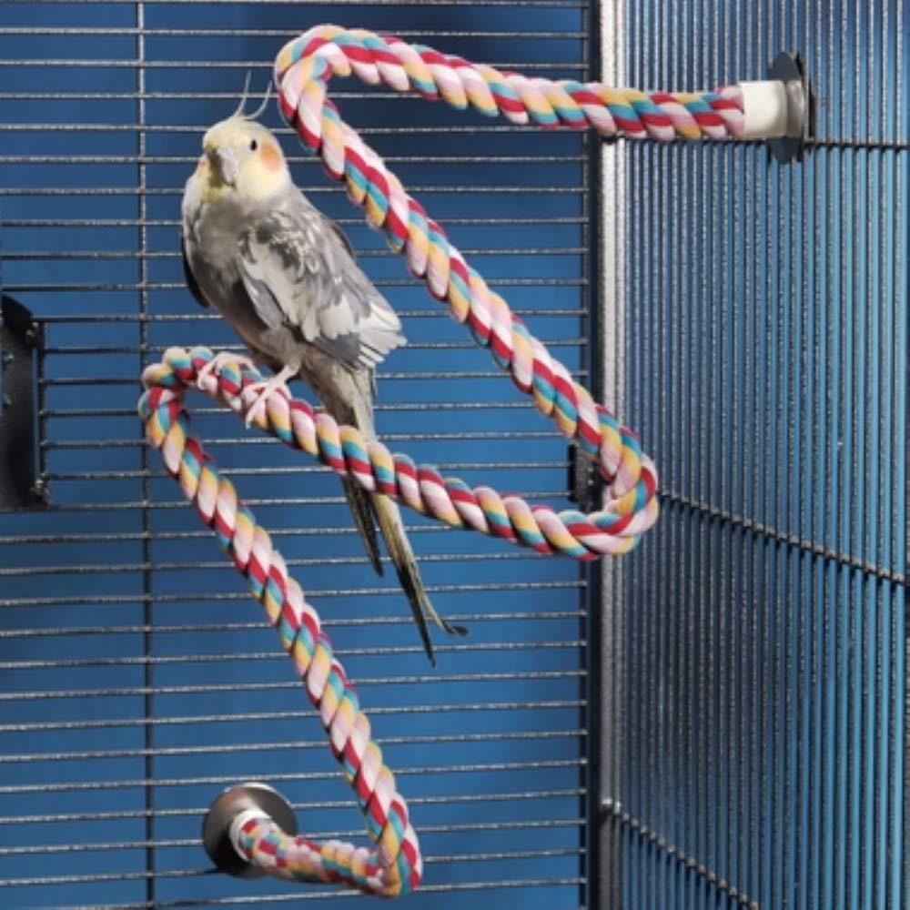Amazon.com : JW Pet Comfy Perch For Birds Flexible Multi-color Rope ...