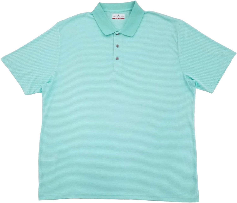 Amazon.com: Grand Slam Mens Aruba Blue Stripe Performance Golf ...