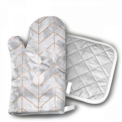 Amazon.com: Guantes de horno Marble Herringbone con diseño ...