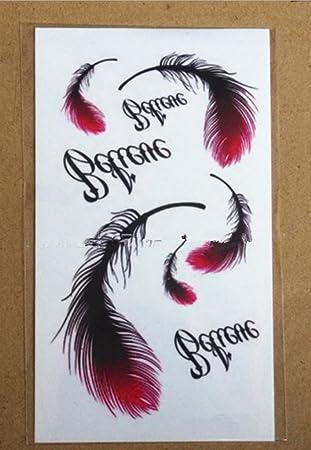 GYMNLJY Etiquetas engomadas del tatuaje Mano del inglés Scar goma cintura pierna impermeable hombres y mujeres tatuaje tatuaje pintado StickersTemporary ...