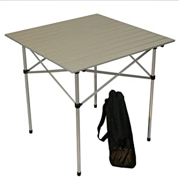 Table In A Bag TA2727GA Tall Aluminum Portable Table With Carrying Bag, Grey