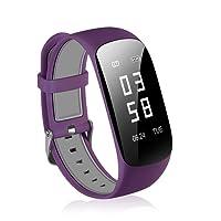 Fitness Tracker Surenhap Fitness Armband, Smartwatch Wasserdicht IP67 HR Unisex mit Herzfrequenz/Schlafanalyse / Kalorienzähler Aktivitätstracker usw. mit Pulsmesser Android IOS(Lila)