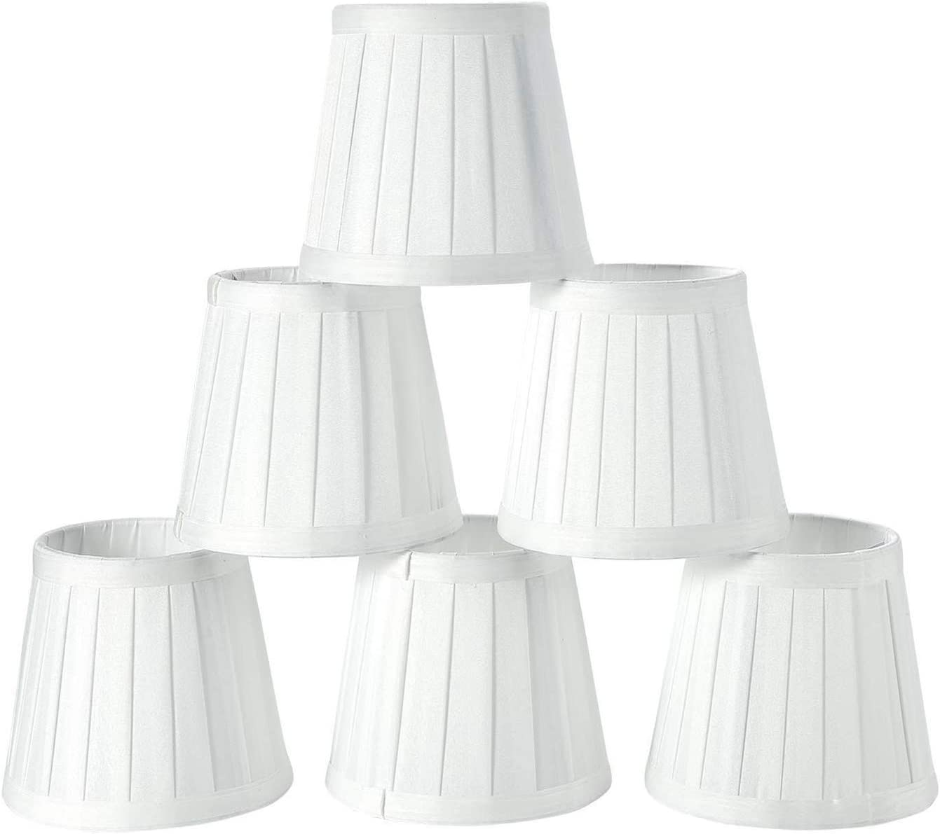 Bestlymood Paralume Moderno Lampada Da Parete Droplight Stile Europeo Candela Paralume 6 Pezzi Set Bianco Solido