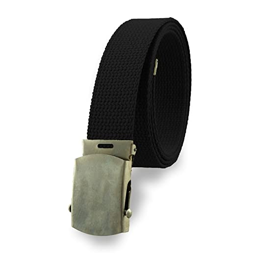 Cotton Military Web Belt MADE IN USA (Black) at Amazon Men s ... d5816658cf8