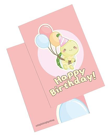 Tarjeta de felicitación de cumpleaños con globos para bebé ...