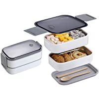 Smilee Stainless Steel Bento box for kids and adults with Dividers 800 ml - Leakproof lunchbox, On-the-Go Meal and Snack…