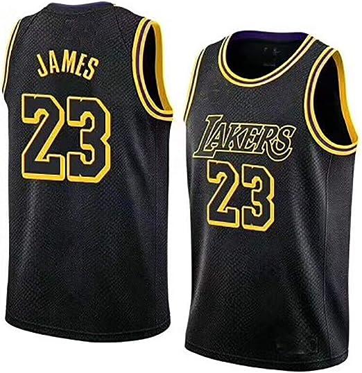 Boruo NBA Hombre Jersey,Lakers n#23 James Ropa de Baloncesto,Mujer ...