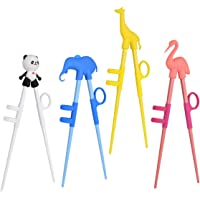 Training Chopsticks, Cute Animal Shape Easy to Use Learning Chopsticks for Kids With attachable for Right or Left Handed…