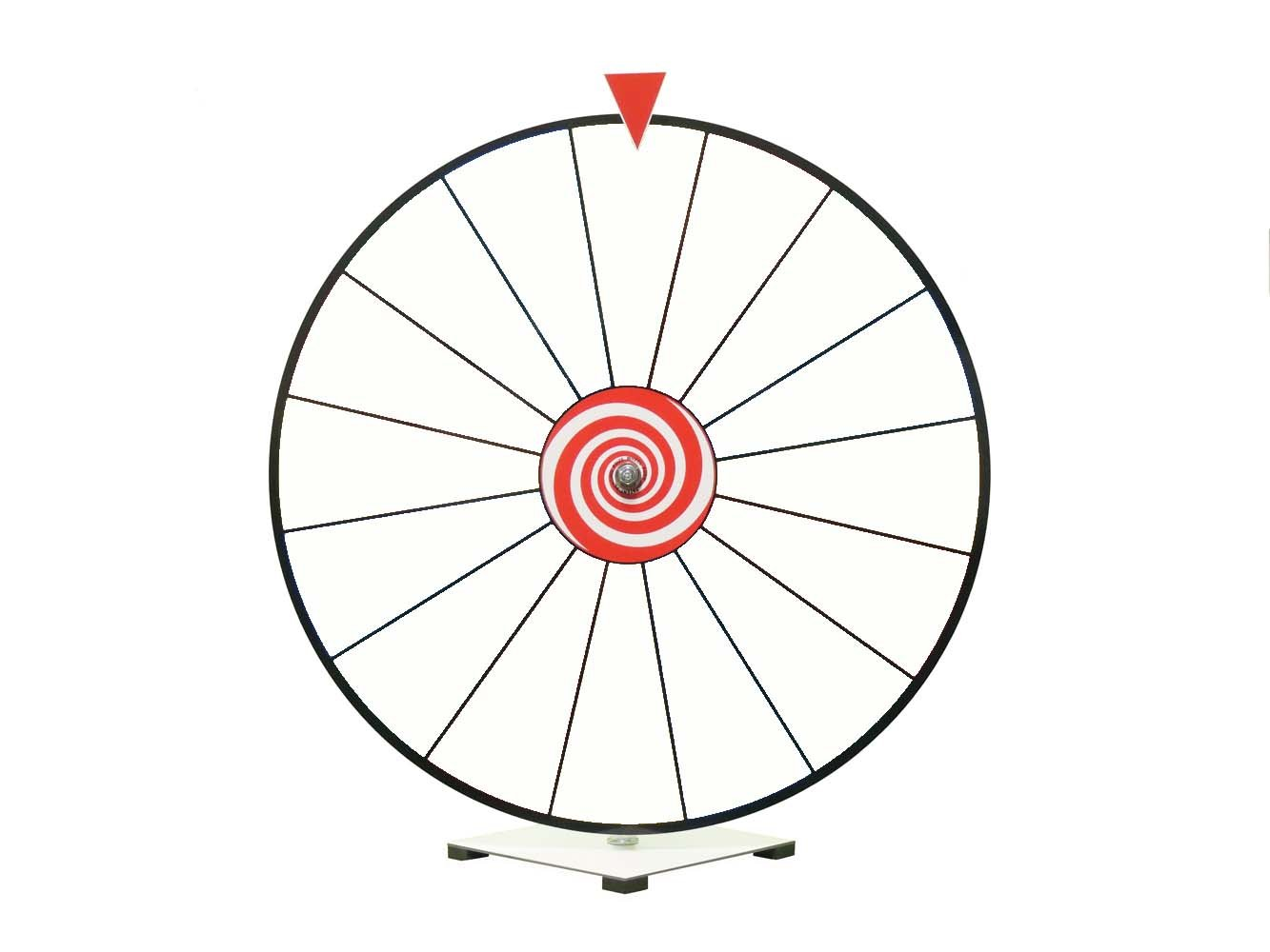 24 Inch Dry Erase Spinning Prize Wheel White Face Kid Safe Pegless Design