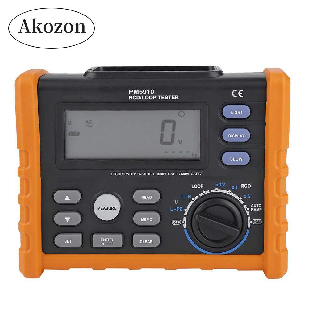 akozon circuit breaker rcd loop tester peakmeter pm5910 leckage