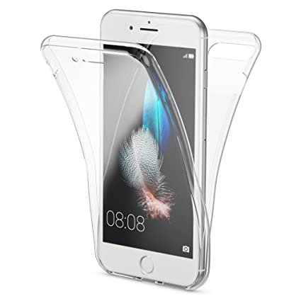 NALIA Funda 360 Grados Compatible con iPhone 7 Plus / 8 Plus, Delantera Trasera Protectora Movil Silicona Carcasa, Ultra-Fina Gel Transparente Doble ...