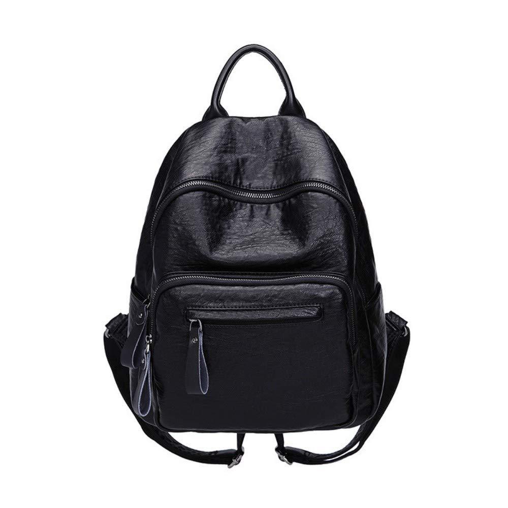 ZLK backpack Wildleder Rucksack Aus Schwarzem Leder Aus Weichem Leder B07M7N9J1Y Daypacks Trend