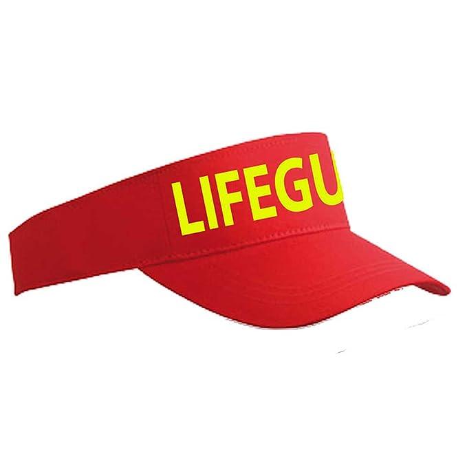 a9d532b76cfb Lifeguard Sun Visor Red Yellow  Amazon.co.uk  Clothing