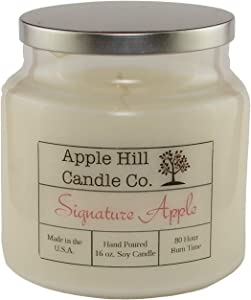 Apple Hill Candle Co Natural Soy Candle - Signature Apple (16 oz.)   ~80 Hour Burn Time