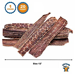 123 Treats Beef Dog Treats Esophagus (12 Inches - 20 Count) 100% Natural Healthy Chews for Dogs - Meat Jerky Snack Free of Preservatives, Hormones & Antibiotics From Grass Fed Cattle 65