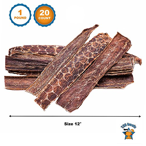 123 Treats - Beef Dog Treats Esophagus (12 Inches - 20 Count) 100% Natural Healthy Chews for Dogs - Meat Jerky Snack Free of Preservatives, Hormones & Antibiotics from Grass Fed Cattle