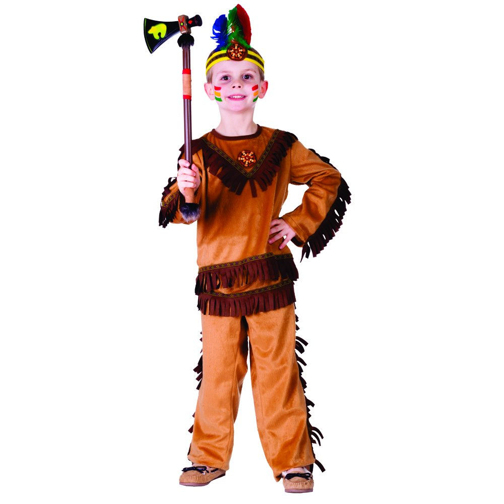 Indian Warrior Boy Costume - Size Toddler 2