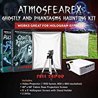 Amosfearfx Ghostly Apparitions and Phantasms Video Ultimate Projector Bundle.Includes Projector, Dvd, Translucent Window Screen And Hologram Screen Stand Kit.