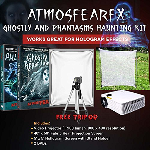 CSL Amosfearfx Ghostly Apparitions and Phantasms Video Ultimate Projector Bundle.Includes Projector, Dvd, Translucent Window Screen And Hologram Screen Stand Kit. -