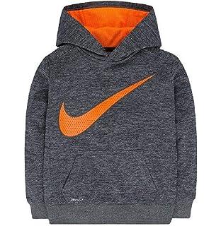 7c061b5211 Amazon.com  NIKE Boy s Orange and Grey Stripe Dri-fit Pullover ...