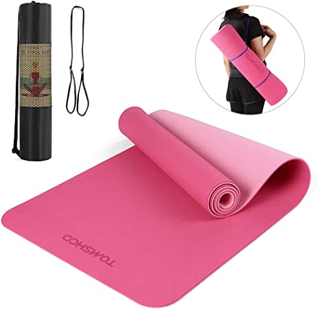 Long Anti-Slip Gym Yoga Mat Pad for Exercise Fitness 183CM//60CM With Carry Bag