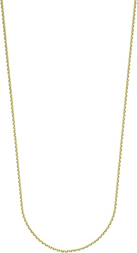 CABLE CHAIN 20 INCHES LONG 14KT GOLD CABLE CHAIN WITH LOBSTER LOCK