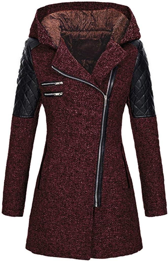Manteau Zipp/é /à Capuche Manteau /éPais Slim Fit dhiver Chaud Manteau Coat pour Femelles Manteau Femme Hiver
