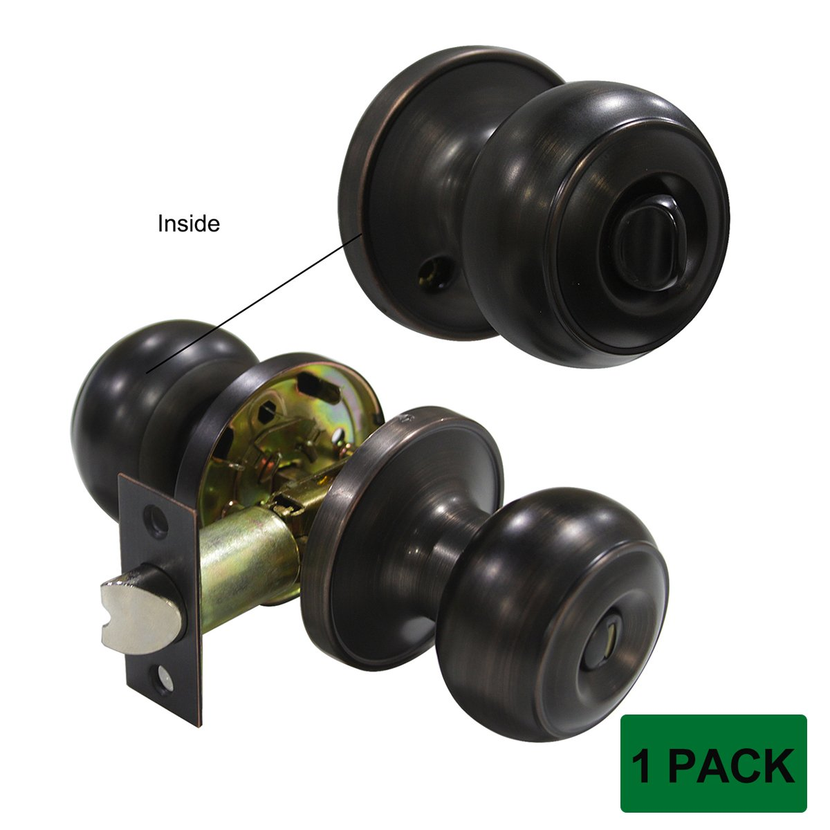 Probrico Colonial Style Door Knobs Door Locks (Privacy, Oil Rubbed Bronze)