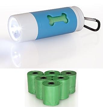 Bolsas de basura de perro con dispensador de LED con luz y correa Clip including bonus