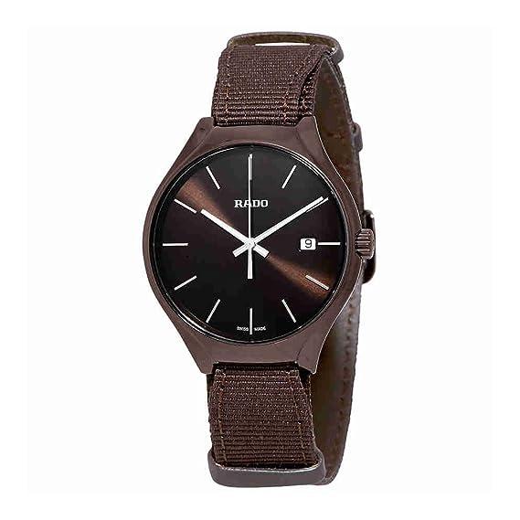 Rado True cuarzo Brown Dial Mens Reloj r27234306