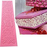 Anyana edible wedding lace cake silicone baking lace Mat fondant impression Texture lace decorating mold sugar craft icing candy imprint moulds craft