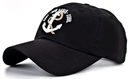 Coolzdt The New Anchor Nautical SEA Embroidery Adjustable Snapback Hat  Baseball Cap (Black) a83d6ac2694