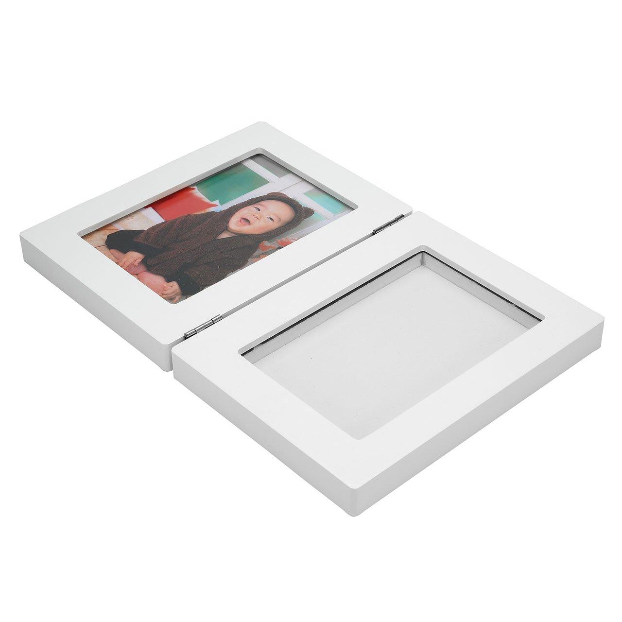 Mogoko Baby Teeth Storage Box and Footprint Picture Frame Kit Wooden Souvenir Bundle Set for Baby Girl by Mogoko (Image #7)