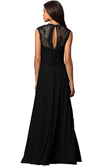 d2eb769a667 Aofur Womens V Neck Chiffon Casual Maxi Dress Wedding Evening Gowns Summer  Sleeveless A-Line Party Long Skirt at Amazon Women s Clothing store
