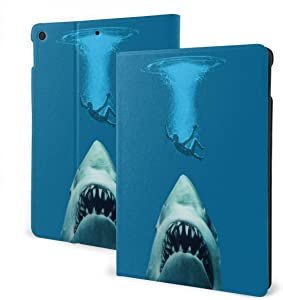 Cool Shark IPad Case Fit 7th Generation/ Air3, Full-Body Trifold with Built-in Screen Protector Protective Smart Cover with Auto Sleep/Wake
