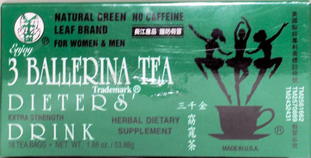 3 Ballerina Tea Dieters Drink -18 tea bags