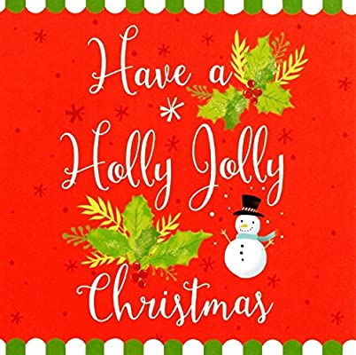 Pack of 16 Mini Holly Jolly Christmas Cards Xmas Card Cello Packs: Amazon.es: Oficina y papelería