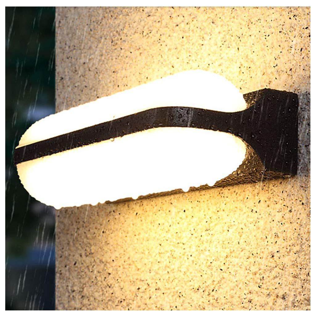 Warmes Licht-18w LED Wandleuchte, Scheinwerfer Wasserdicht Doppelkopf Villa Hotel Balkon Gang Treppe Aussenwand Auf Und Ab Lampe (Farbe   Warmes Licht-18w)