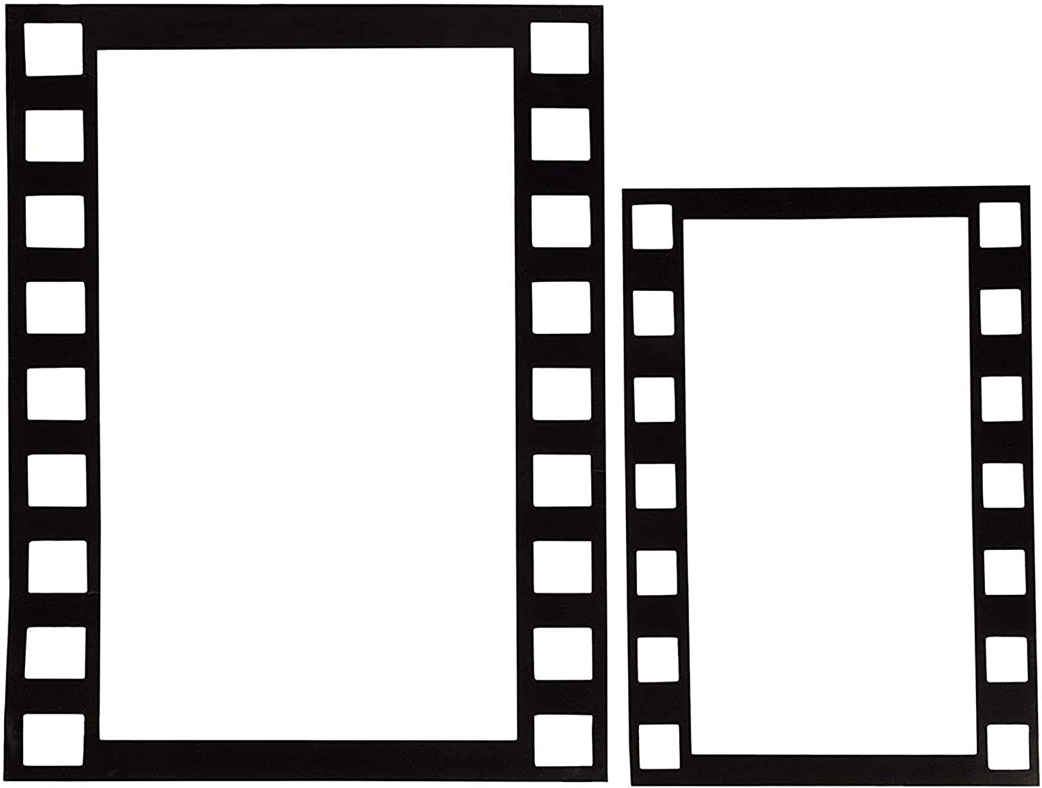 Movie Filmstrip Photo Booth Party Props, 2 Large, 2 Small (4 Pack)