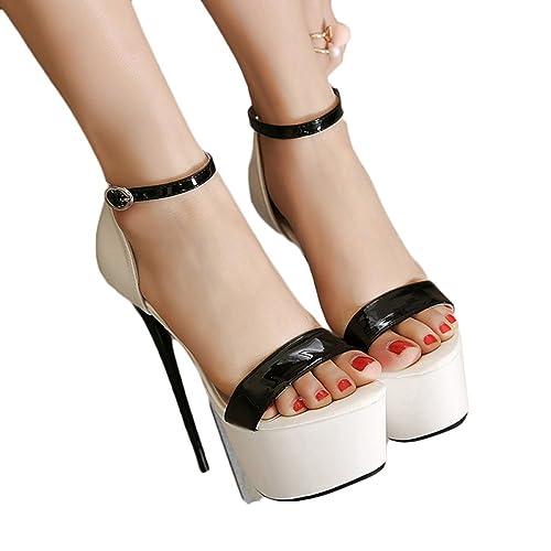 Snfgoij Cinturino alla Caviglia da Donna Alto Sandalo Tacco Scarpe   Scarpe  7360fe