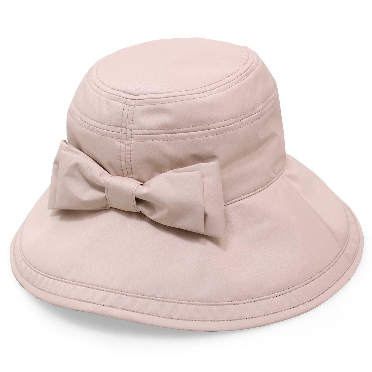 Rose Blanc(ロサブラン) 100%完全遮光 帽子 リボンハット12cm(ポケット付) B06XDH8FBK Pink(ピンク) Pink(ピンク)