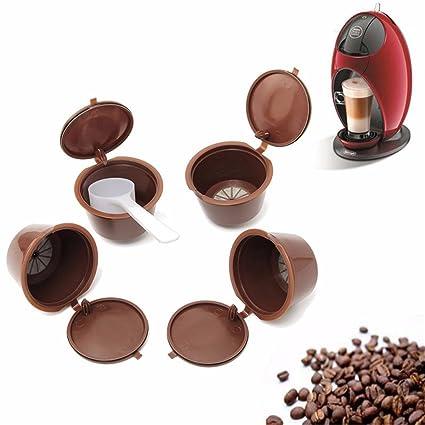 4 Pcs Filtros para Cápsulas de Café Taza Con Cuchara de 1 pc Plástico