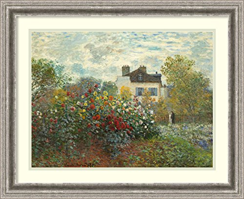 Framed Art Print 'The Artist's Garden in Argenteuil (A Corner of The Garden with Dahlias), 1873' by Claude Monet