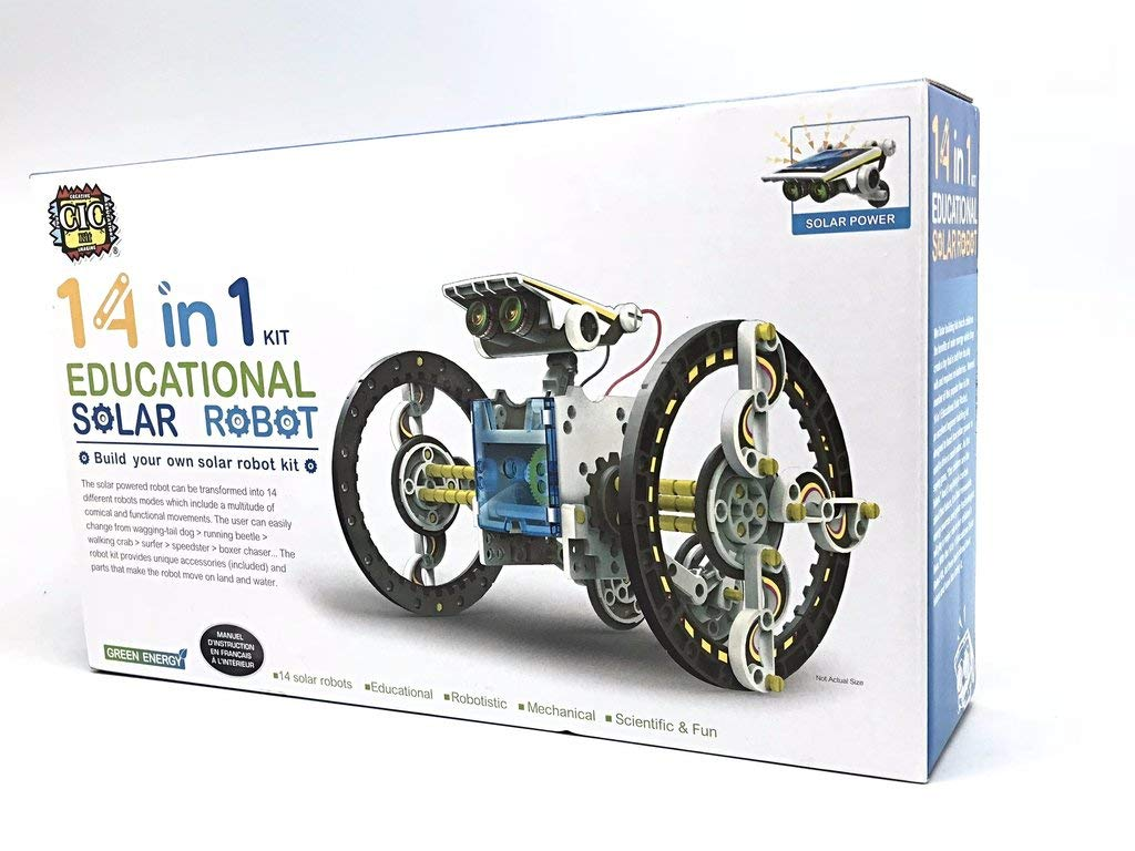 14 in 1 Solar Robot kit Educational Solar Power Robot Canada by supersmartchoices