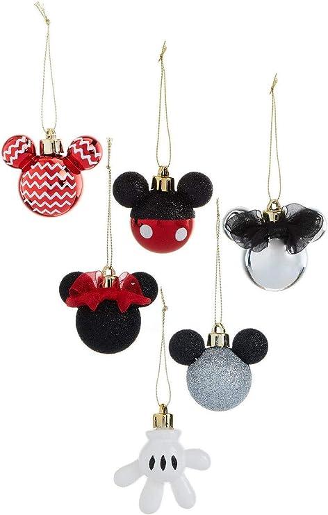 Primark Licensed Disney Mickey & Minnie Mouse Decoración Pack 6 Bolas de Navidad: Amazon.es: Hogar