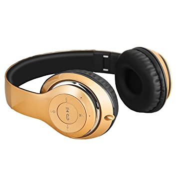 LQQAZY Auriculares Inalámbricos Llevar Luz Control De Volumen Graves PC/Teléfono / TV Auriculares Bluetooth,香槟金: Amazon.es: Electrónica