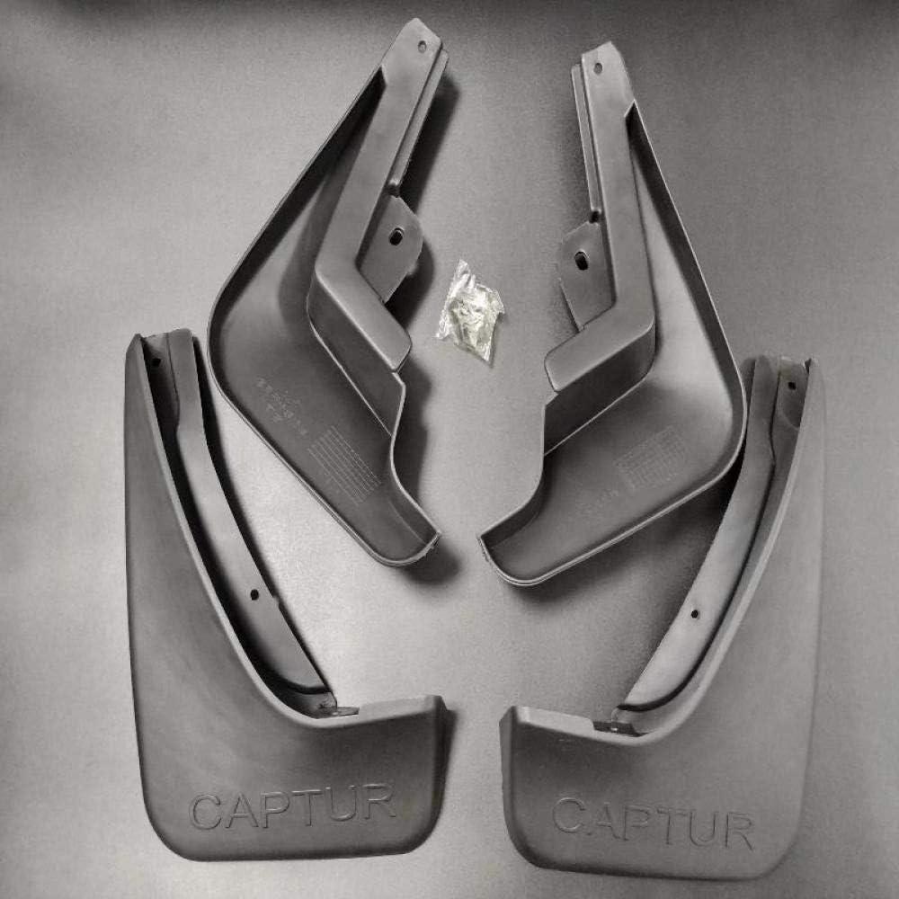 JXSMDNB Accessoires de Voiture Style bavettes Garde-Boue Pare-Boue Garde Boue Garde Boue Pare-Boue Fender 4pcs./pour Renault Captur 2014 2016 2017 2018 2019